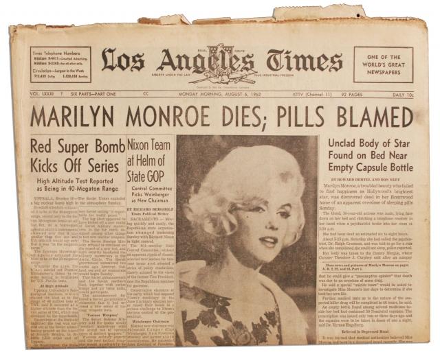 """Сразу после смерти актрисы версия о передозировке широко обсуждалась в американской печати, вызвав так называемый """"эффект Вертера"""", в результате чего сотни американцев последовали ее примеру."""