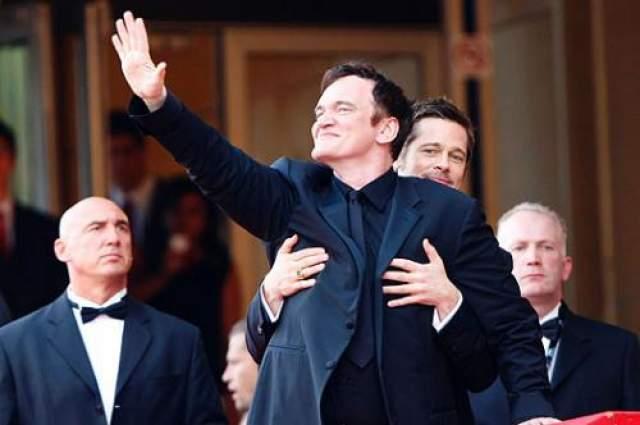 Брэд Питт и режиссер Квентин Тарантино.