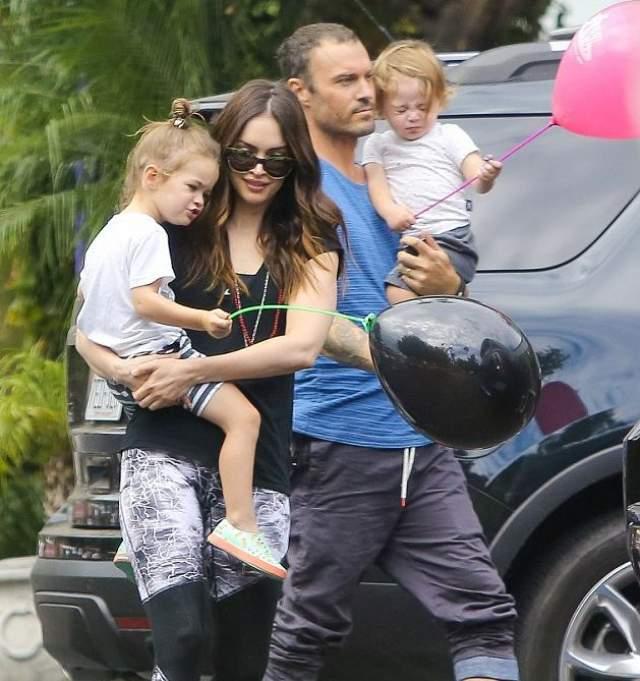27 сентября 2012 года у пары родился сын Ноа Шеннон, через два года - второй сын Бодхи Рэнсом. После этого Меган внезапно подала на развод, но вместо того, чтобы оформить его родила третьего сына, которого назвали Джорни Ривер Грин.