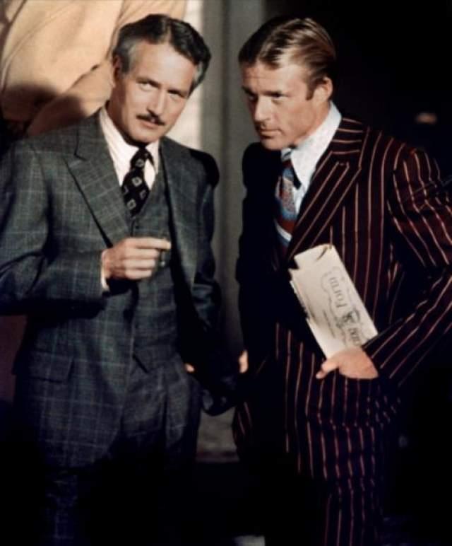 """Блестящие аферы Джозефа Уэйла были настолько виртуозно исполнены, что вдохновили Голливуд на съемку нескольких фильмов на основе реальных событий. Один из них - """"Афера"""" (1973) с Полом Ньюменом и Робертом Редфордом. Кадр из фильма."""