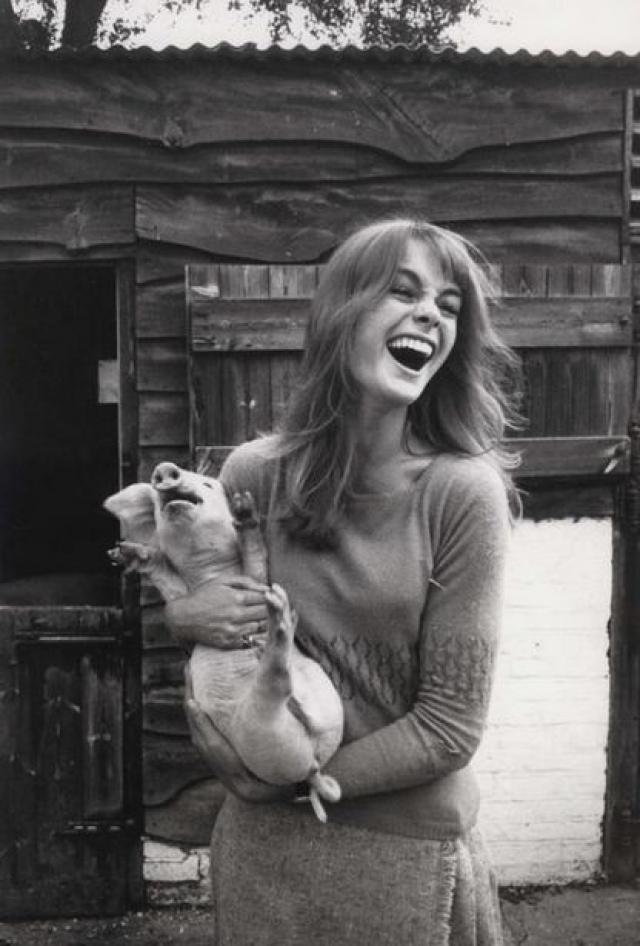 Своей успешной карьере Джин во многом обязана воле случая. В 1960 году в одной из съемочных студий она встречается с фотографом Дэвидом Бейли.