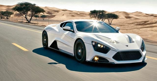 Zenvo ST1 - $1 800 000. Эксклюзивная модель была произведена в 15-ти экземплярах. Автомобиль оснащен 7,0-литровым двигателем V8 мощностью 1250 л.с.