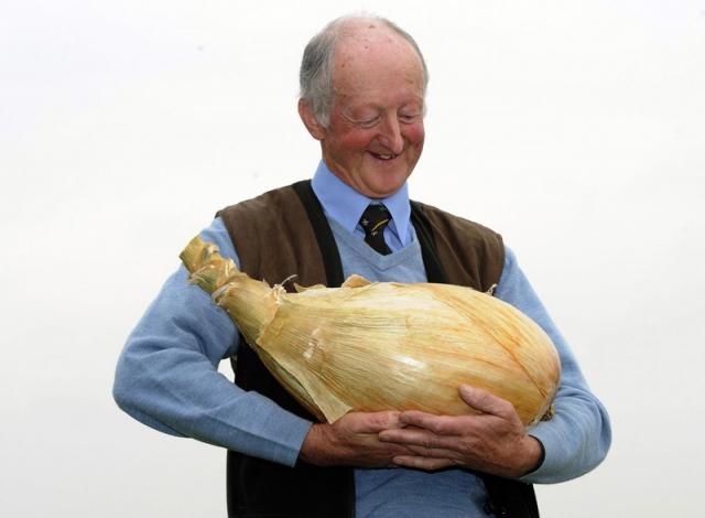 Англичанин Питер Глейзбруг вырастил луковицу в 9 кг.