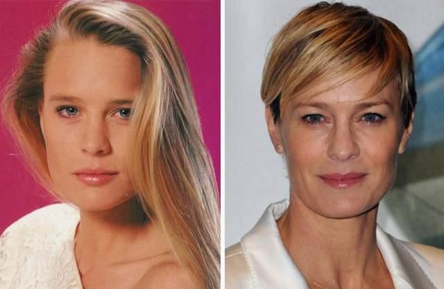 """Келли Кэпвелл — Робин Райт, 52 года. Работавшая моделью блондинка пришла на съемочную площадку сериала в 18 лет. За плечами она имела в то время лишь маленьку роль в ТВ-сериале """"Желтая роза"""". Девушка оказалась очень талантливой: уже в 1986 году она была отмечена наградой как """"перспективная молодая актриса""""."""