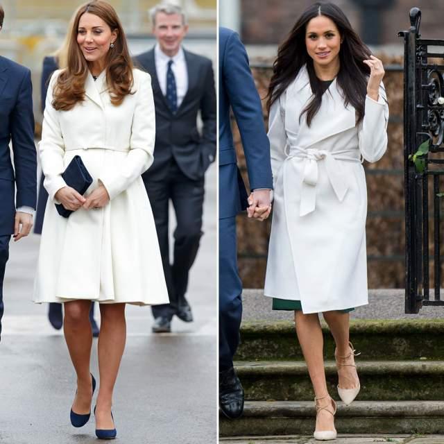 Пальто у герцогинь почти всегда похожего кроя.