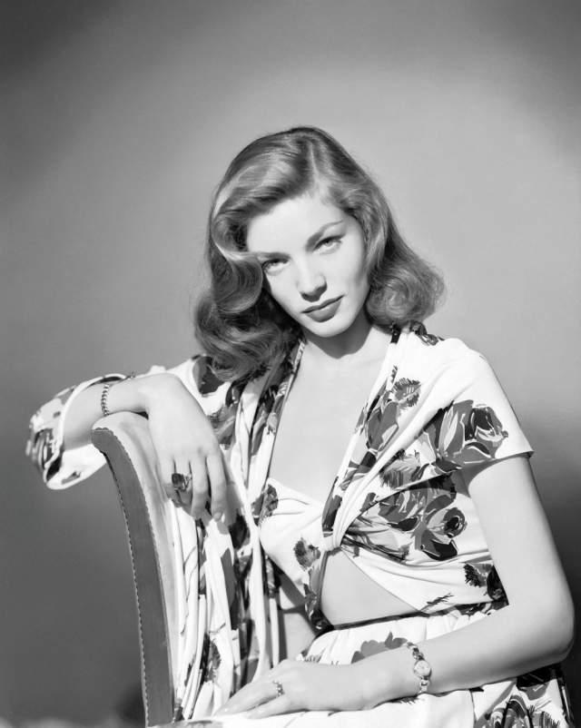 """Лорен Бэколл, 70 лет карьеры. Дочь иммигрантов из Румынии Бетти Джоан Перски начинала свою карьеру в качестве фотомодели, и к 19 годам она добилась такой известности, что её пригласили сниматься в фильме """"Иметь и не иметь"""" с Хамфри Богартом."""
