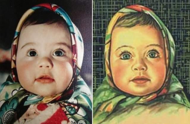 На фото Лене всего восемь месяцев. По некоторым данным, Елена сейчас проживает в России и работает фармацевтом.