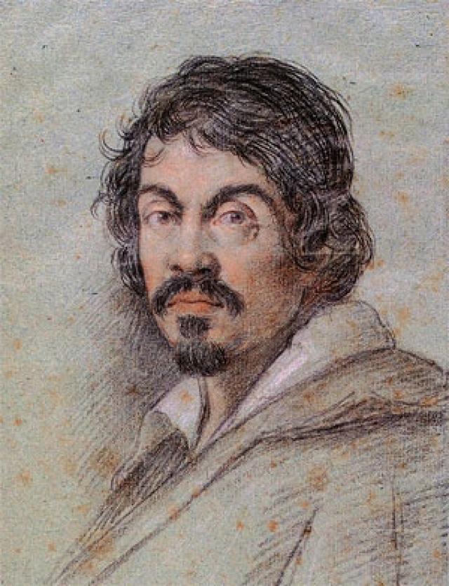 На картине, написанной в 1599 году, изображен самый драматичный момент этой истории - обезглавливание.