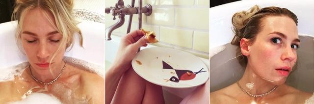 Дженьюри Джонс большая любительница всех удовольствий в ванной.