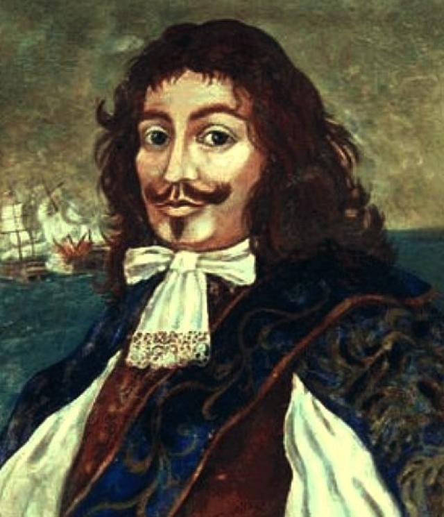 Генри Морган (1635-1688). За короткий промежуток времени юноша успел побыть рабом, собрать банду головорезов и заполучить свой первый корабль, ограбив попутно добрую сотню людей.