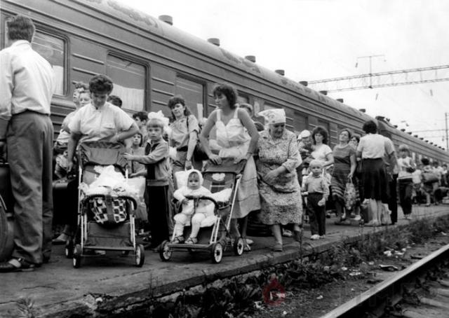 По подсчетам исследователей, общее количество эвакуированных составило более 350 тысяч человек. Из них более 96 тысяч были вывезены с территории Украины, 135 тысяч - из Белоруссии.