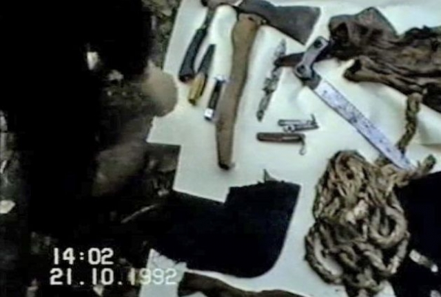 """В признательных показаниях Головкин отмечал: """"В 1990 году я выкопал погреб, где сначала собирался делать мастерскую. Но затем мне пришла мысль использовать погреб для совершения половых актов и преступлений…"""""""