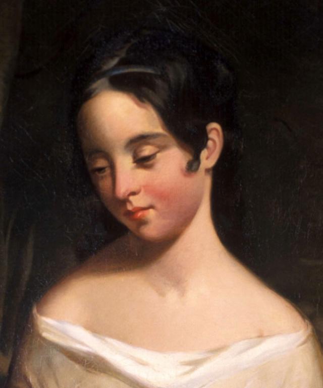 Вирджиния Клемм. Юная Вирджиния в тринадцатилетнем возрасте уже стала женой американского писателя Эдгара Алана По, которому уже исполнилось 27.