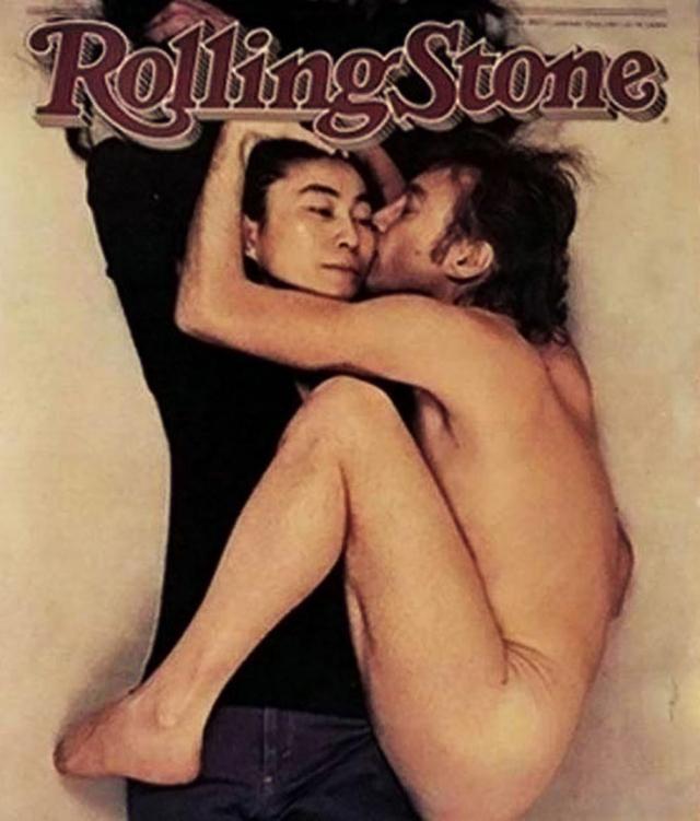 Фото Анни Лейбовиц для обложки журнала The Rolling Stone, где обнаженный Леннон обнимает Йоко Оно, стала последней съемкой в жизни музыканта.