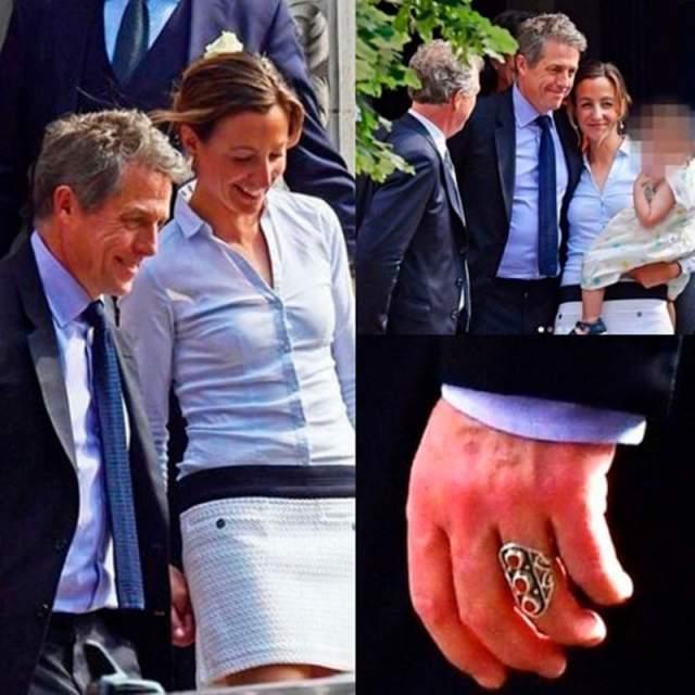 По словам очевидцев, Хью и Анна пришли туда не одни, а в компании своих друзей и близких. Напомним, церемония бракосочетания состоялась в Лондоне, была тихой и скромной.