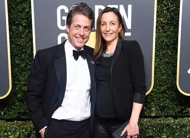 Хью Грант и Анна Эберштейн, май 2018. Для 57-летнего актера этот брак стал первым. Анна и Хью вместе уже более шести лет и воспитывают троих детей.