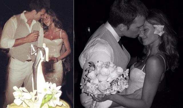 Сама модель опубликовала всего лишь два свадебных фото, причем спустя шесть лет после церемонии.