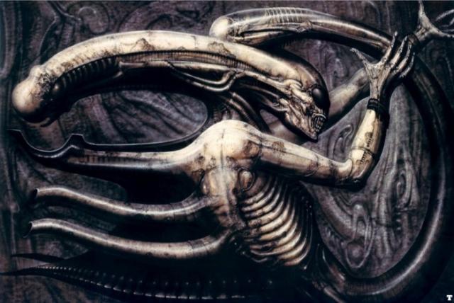 «Necronom IV» Это страшное творение известного художника Ганса Рудольфа Гигера было вдохновлено известным фильмом «Чужой». Гигер страдал от ночных кошмаров и его все картины были вдохновлены этими видениями.
