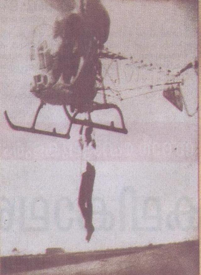 По сценарию его герой должен был перебраться с несущегося во весь опор мотоцикла на низко летящий маленький вертолет. Трюк был выполнен с первой попытки, но Джаян настоял на повторном дубле, недовольный своим исполнением.