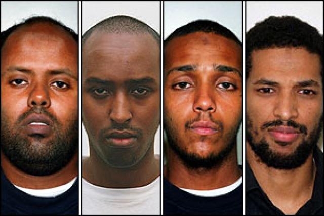 Пятую один из террористов бросил, так и не приведя её в действие.