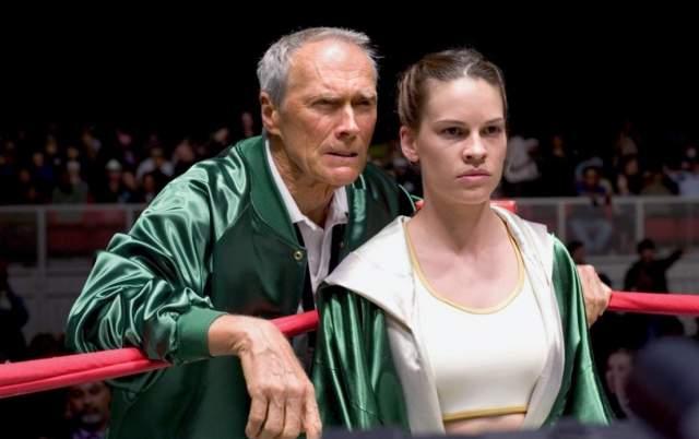 """Хиллари Суонк Для роли чемпионки по боксу в фильме """"Малышка на миллион"""" Хиллари пришлось учиться боксу и набрать почти 15 кило чистых мышц."""