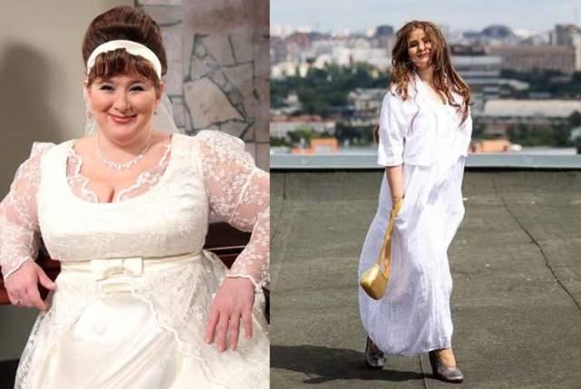 """Юлия Куварзина, 43 года. Вес: 90 кг, рост: 165 см. """"Лишний вес принес мне успех"""", - сказала как-то артистка в интервью, и это правда."""
