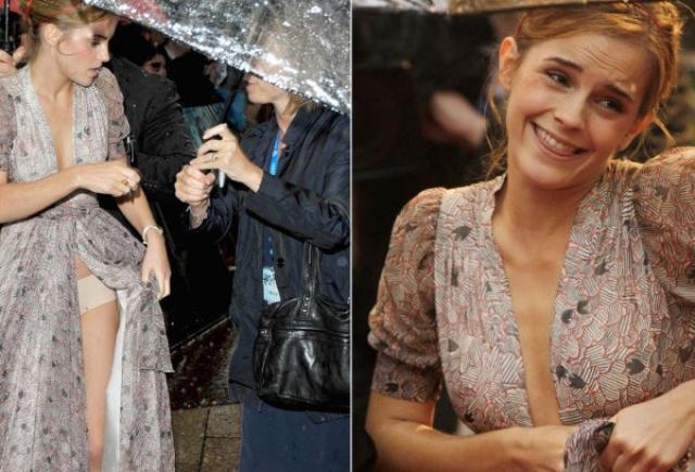 """Эмма Уотсон. Платье звезды """"Гарри Поттера"""", похоже, не дошили."""