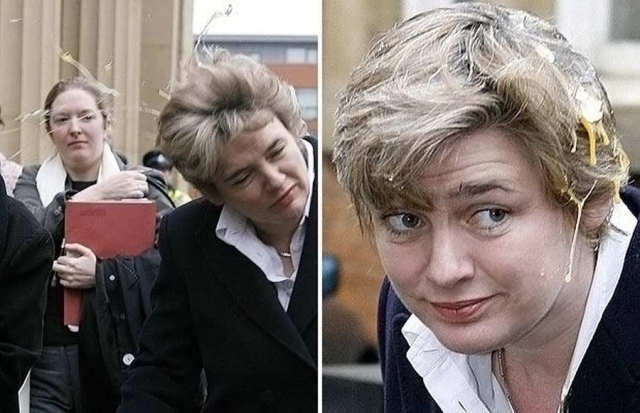 В феврале 2006 года Рут Келли, бывшую тогда министром образования, обкидали яйцами активисты организации «Отцы за справедливость» после слушания дела против другого активиста этой организации, который пытался надеть на нее наручники годом ранее.