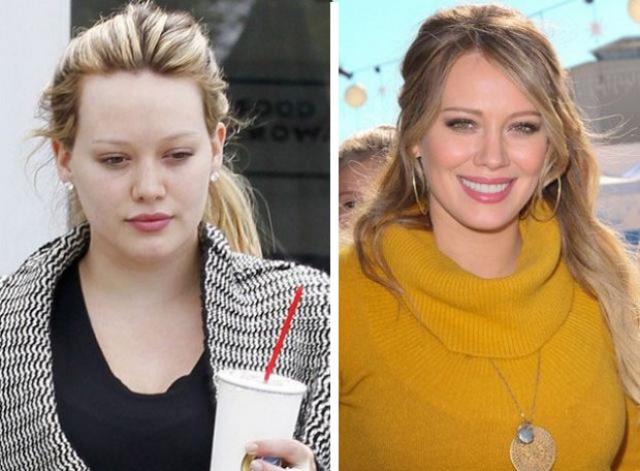 Хилари Дафф. Актриса и кумир подростков попала в объектив папарацци не в лучшем виде.