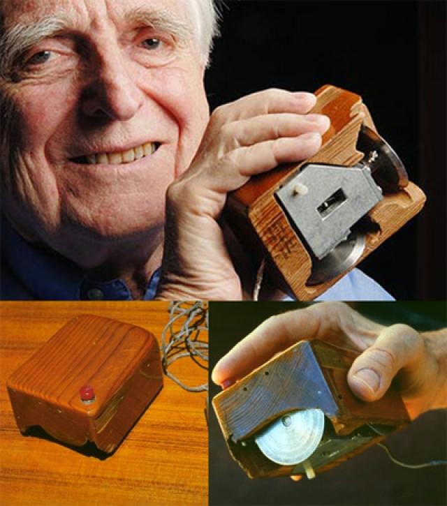 Компьютерная мышь. Первый компьютерный манипулятор (индикатор позиций X и Y) увидел свет в 1964 году, благодаря Дугласу Карлу Энгельбарту.