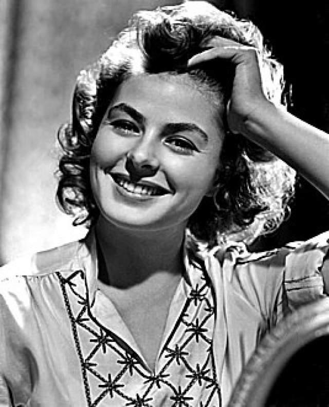 Ингрид Бергман, 29 августа 1915 - 29 августа 1982. Шведская и американская актриса трижды была замужем, в том числе за известным кинорежиссером Роберто Росселини.