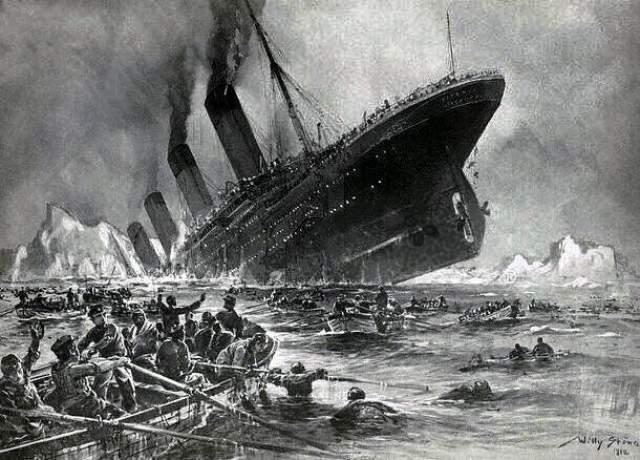"""Гибель """"Титаника"""" На момент ввода в эксплуатацию """"Титаник"""" являлся самым большим пассажирским лайнером в мире. До своего первого и единственного рейса из Саутгемптона в Нью-Йорк в апреле 1912 года его часто называли """"непотопляемым""""."""