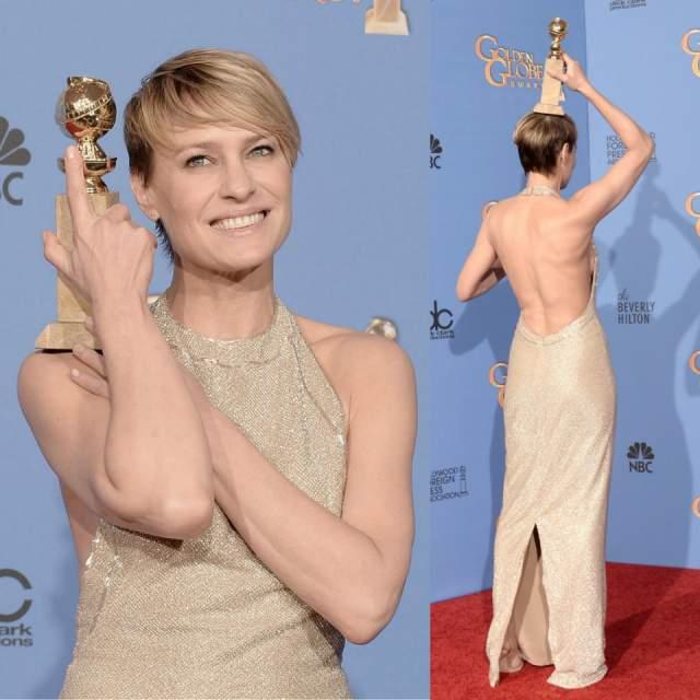 """Робин считается самой успешной актрисой, сыгравшей в """"Санта-Барбаре"""". В 2013 году ее номинировали на премию """"Эмми"""" и удостоили """"Золотого глобуса"""" за роль в телесериале """"Карточный домик""""."""