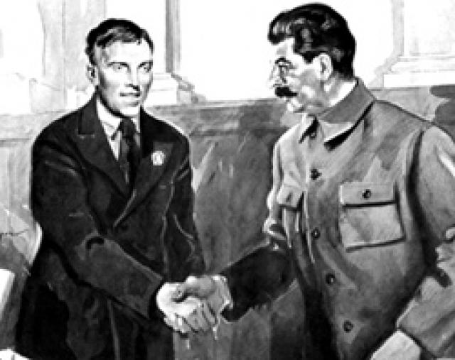 После смерти покровительствующего ему Сталина, в 1957 году по указанию Хрущева он был возвращен в Донецкую область, где ему пришлось снимать угол, а затем несколько лет жить в общежитии (до этого он жил в Москве в знаменитом «Доме на Набережной»).