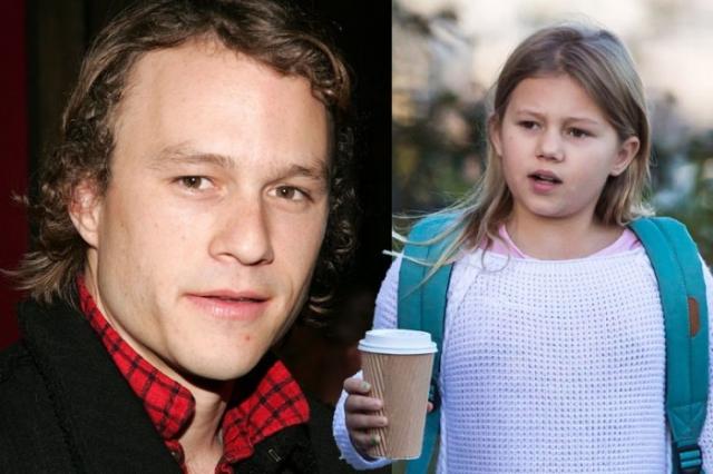Хит Леджер и его дочка 10-летняя Матильда.