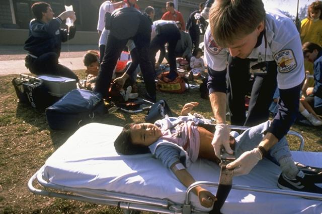 Закончив стрелять по площадке, Перди покончил с собой, застрелившись из пистолета Taurus PT92.