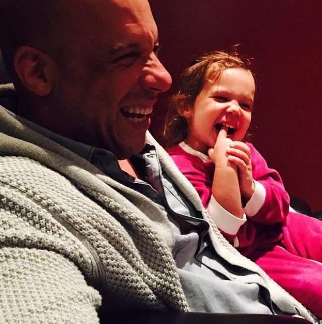 Вин Дизель с дочкой.