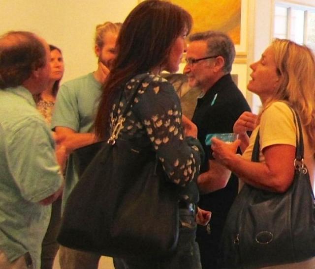Актер Робин Уильямс посетил художественную галерею за два дня до самоубийства.