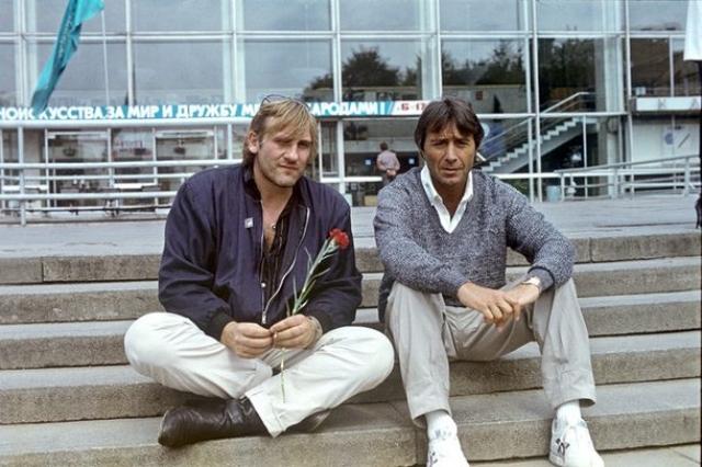Жерар Депардье и Клод Берри , 1987. Гости Московского кинофестиваля.