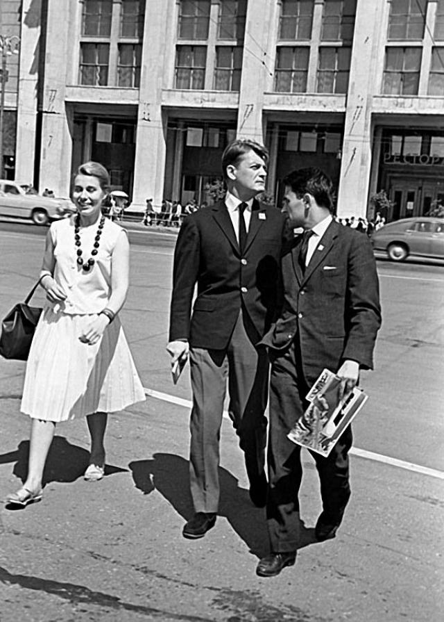 Жан Марэ , 1963. Французский актер на Манежной площади.