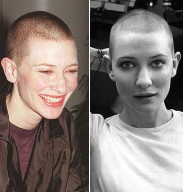 """Однако решилась она на это только в 2002 году для роли в фильме """"Рай"""". """"Моя агент посоветовал носить шляпу, пока волосы не отрастут, но я не стала. Вы не представляете, какое это приятное ощущение, когда ветер обдувает бритую голову!"""""""