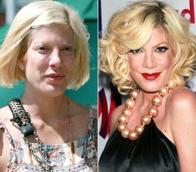 Тори Спеллинг. Фото актрисы без макияжа широко обсуждаются в сети, как, впрочем и фото с ним.