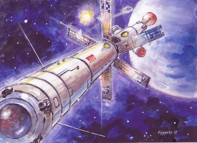 Универсальный жилой блок корабля в проекте включал в себя шесть персональных кают, салон, оранжерею, столовую, санузел, научную лабораторию, мастерскую, радиационное убежище, приборный отсек, шлюз для выхода в открытый космос и автономный отсек для астрономических наблюдений, отсек для спортивных упражнений, с центрифугой для создания искусственной силы тяжести.