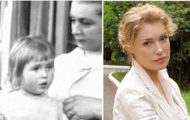 """Мария Шукшина Дебют в кино - в полтора года, в картине отца """"Странные люди""""."""