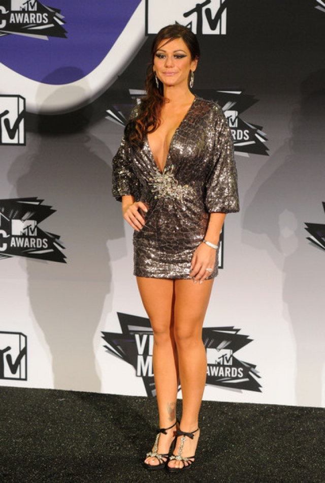 """Дженни Фарли. Звезда реалити-шоу, известная также как Jwoww, полюбилась зрителям благодаря передаче """"Жара в Джерси"""" (""""Пляж""""), где она упорно демонстрировала свое идеальное тело."""