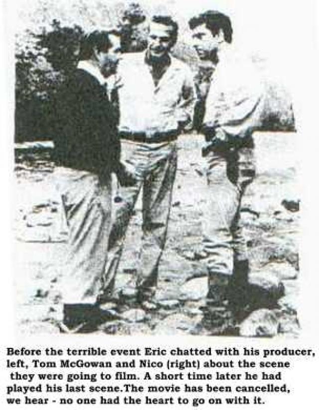 Каноэ перевернулось, и оба актера упали в реку Уальяга. Минардосу удалось выбраться, но Флеминга унесло течением, и он утонул. Его тело растерзали пираньи.