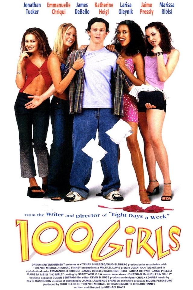 """""""100 девчонок и одна в лифте"""" . В оригинале фильм называется """"100 girls"""" - """"сто девчонок""""."""
