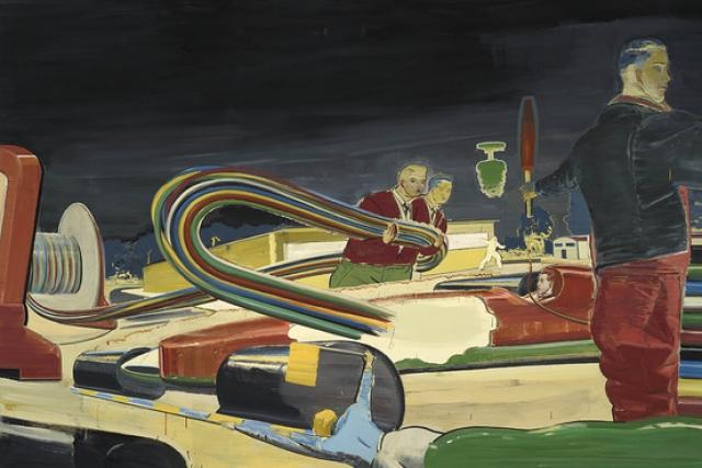 Брэд Питт. Экономический явно не касаются актера, который отдал почти $1 млн за картину немецкого художника Нео Рауха.