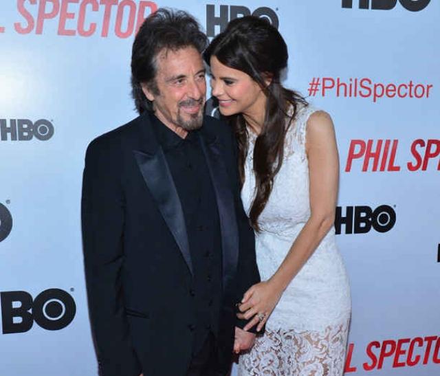 Аль Пачино и Люсила Сола (разница - 39 лет). 77-летний актер уже более восьми лет живет с молодой актрисой.