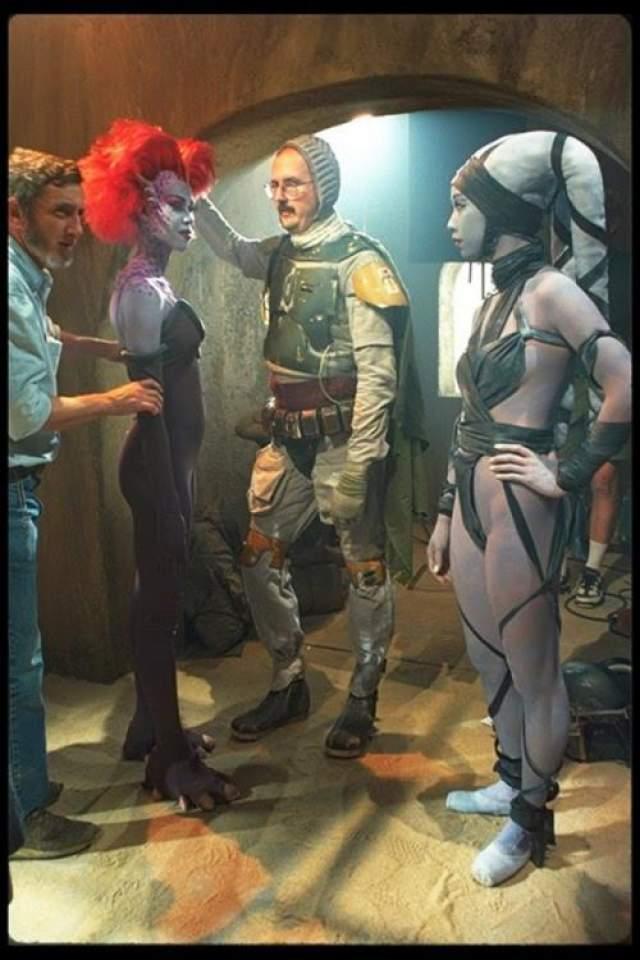Звездные войны - Специальный выпуск Боба Фетт без маски на съемках дополнительных сцен во дворце Джаббы.